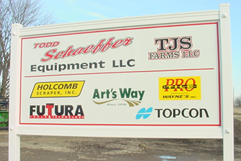 Todd Schaeffer Equipment Sign